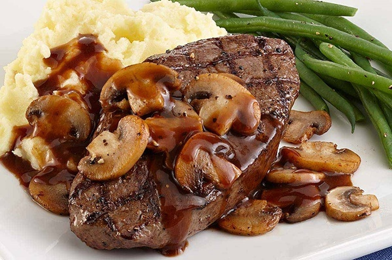 Grilled Steak and Potatoes with Mushrooms Grilled Steak and Potatoes with Mushrooms new images