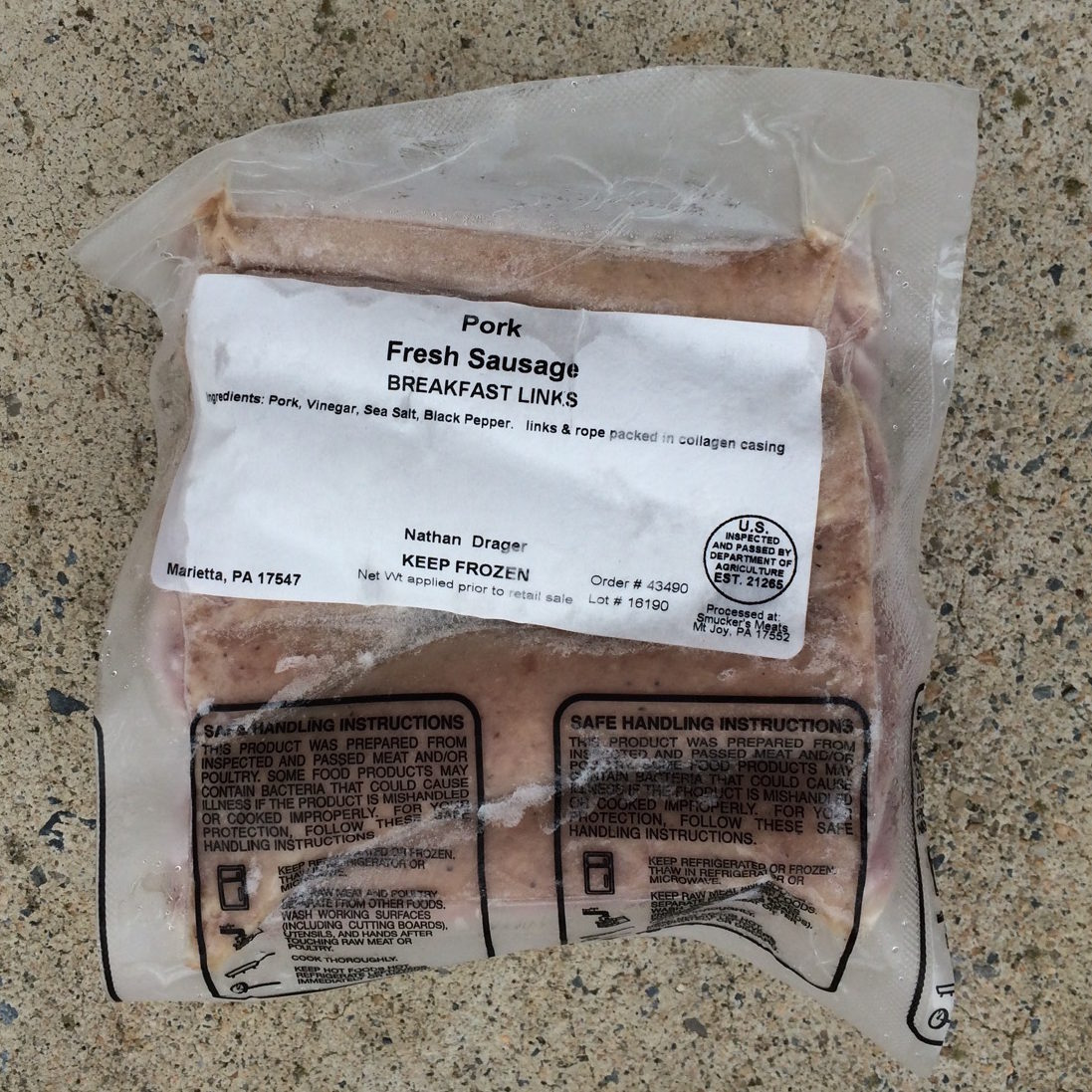 Pork Sausage Breakfast Links | Drager Farms, Marietta PA