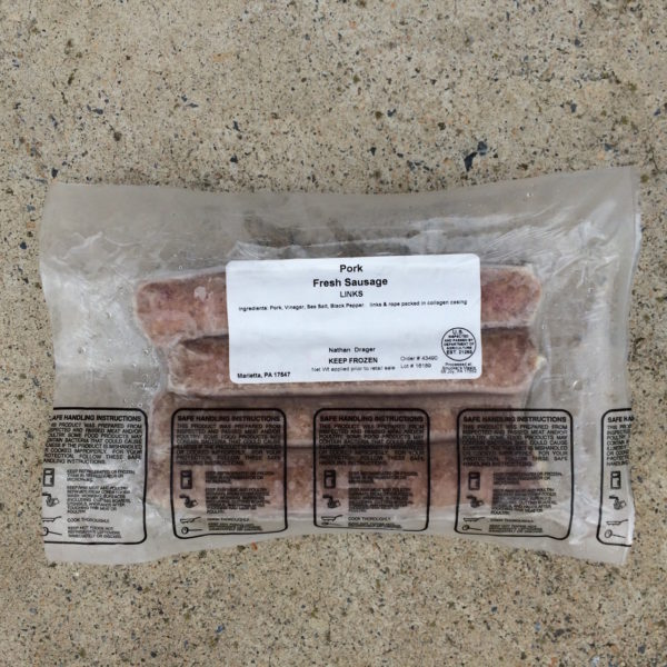 Pork Sausage Links | Drager Farms, Marietta PA