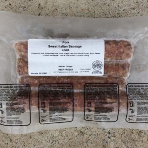 Sweet Italian Pork Sausage | Drager Farms, Marietta PA