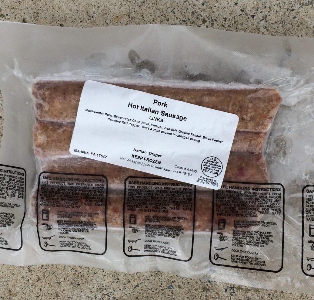 Hot Italian Pork Sausage | Drager Farms, Marietta PA